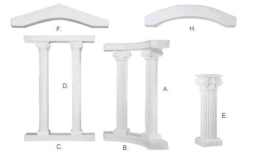 Where to find COLUMN COLONNADE KIT 5x6  TALL in Ft. Wayne
