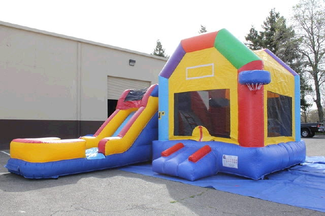 Where to find Moonwalk FUNHOUSE SLIDE COMBO w BBALL in Ft. Wayne