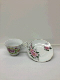 Rental store for TEACUP w SAUCER ASSORTED DESIGN in Ft. Wayne IN