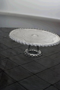 Rental store for CAKE PLATE ROUND BEADED 13x4  TALL in Ft. Wayne IN